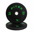 10kg Pair Virgin Rubber Black Bumper Plates V3