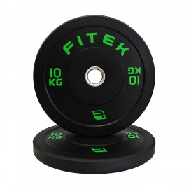 PRE-ORDER ETA 21 FEB 10kg Pair Virgin Rubber Black Bumper Plates V3