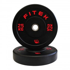 25kg Pair Virgin Rubber Black Bumper Plates V3