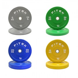100KG Virgin Rubber Colour Bumper Plates V3 Package