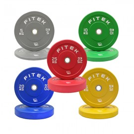 150KG Virgin Rubber Colour Bumper Plates V3 Package