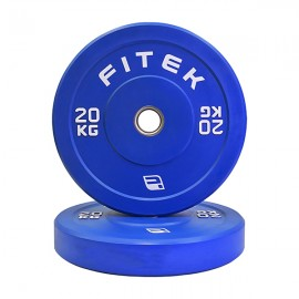 20kg Pair Virgin Rubber Colour Bumper Plates V3