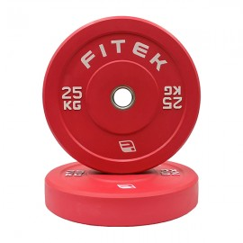25kg Pair Virgin Rubber Colour Bumper Plates V3