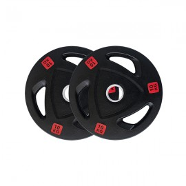 10kg Pair Premium Olympic Weight Plates Rubber Coated
