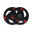 Pre-Order 15kg Pair Premium Olympic Weight Plates Rubber Coated  ETA 05/11